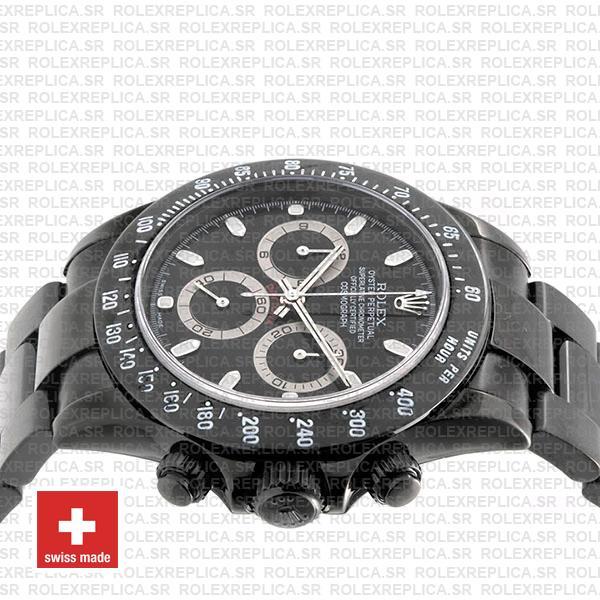 Rolex Daytona Swiss Replica 116520 Black Dlc