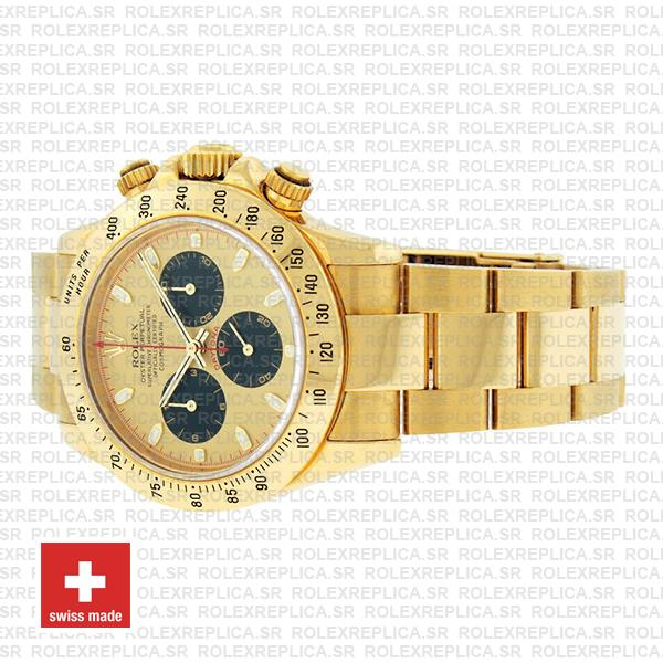 Rolex Daytona 18k Yellow Gold Newman Gold Dial Replica Watch