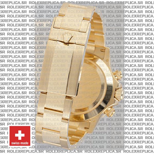 Rolex Cosmograph Daytona 18k Yellow Gold Black Diamond Dial with Rainbow Sapphire Bezel 40mm