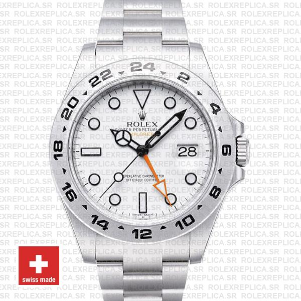 Rolex Explorer II 42mm White Dial Rolex Replica Watch