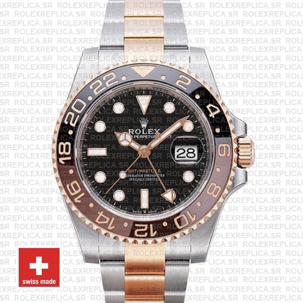 Rolex GMT-Master II Rose Gold Two Tone | Rolex Replica Watch