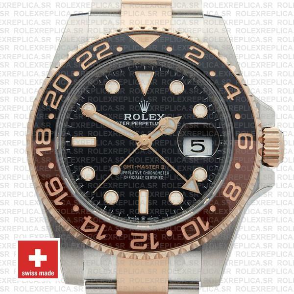 Rolex GMT-Master II Rose Gold Two Tone Replica