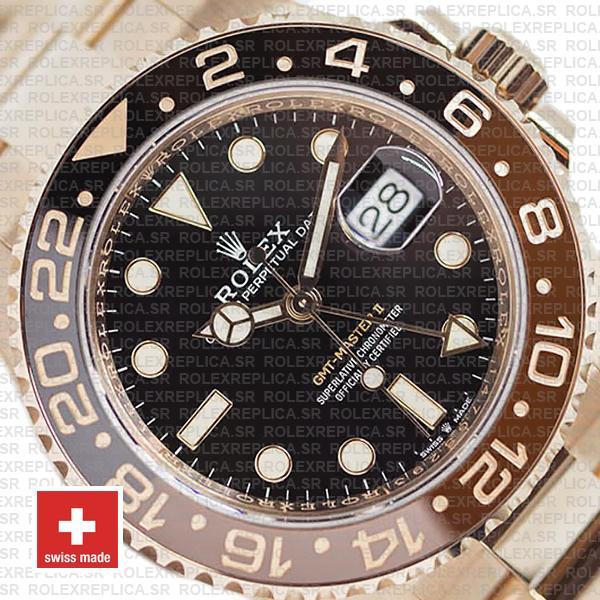 Rolex GMT-Master II 40mm Rose Gold Rolex Replica