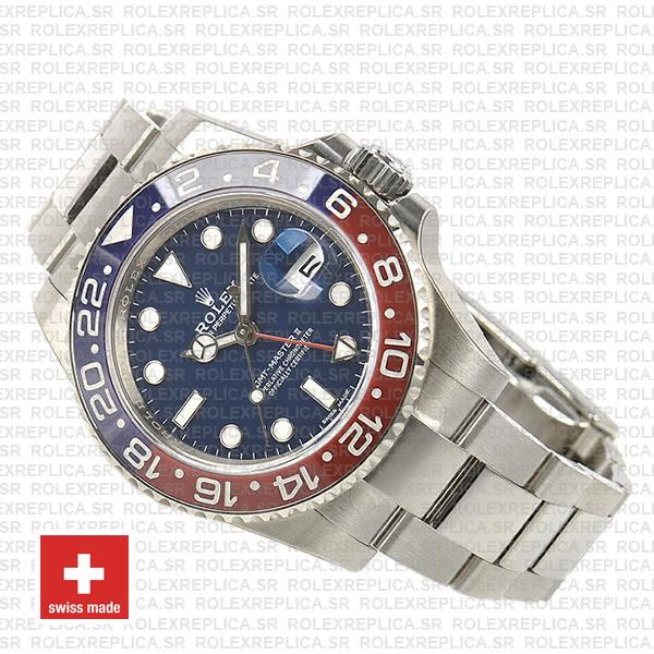 Rolex GMT-Master II White Gold Pepsi Blue Dial 40mm