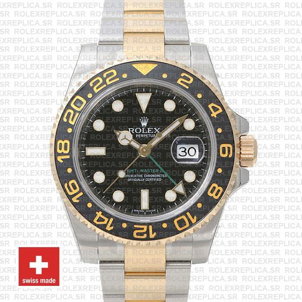 Rolex GMT-Master II 18k Yellow Gold | Two Tone Rolex Replica