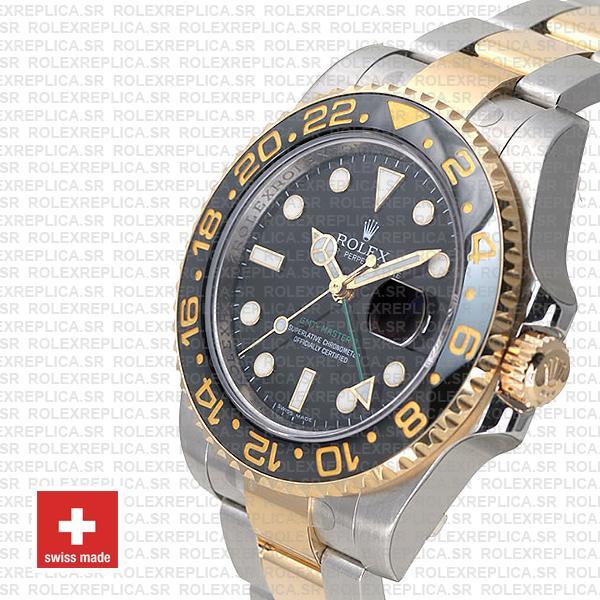 Rolex GMT-Master II 18k Yellow Gold Two Tone Rolex Replica