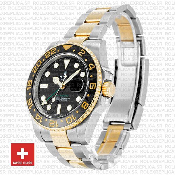 Rolex GMT-Master II 18k Yellow Gold Two Tone Swiss Rolex Replica