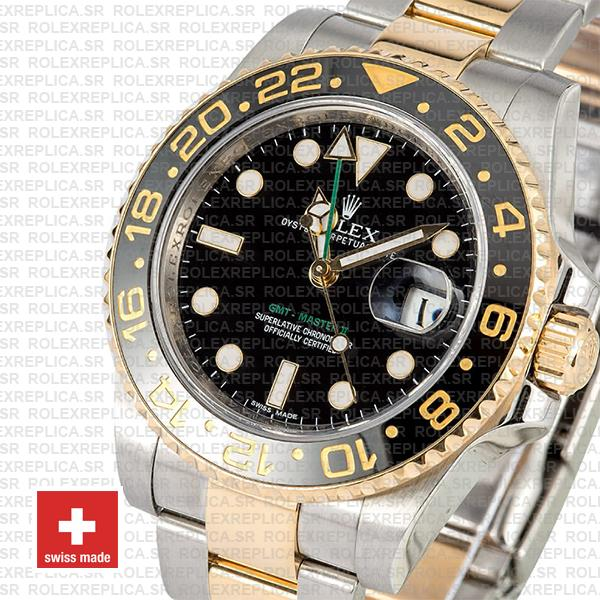 Rolex GMT-Master II 18k Yellow Gold Two Tone 40mm