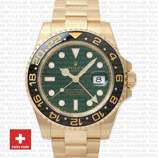 Rolex GMT-Master II Green Face Gold | Swiss Replica Watch