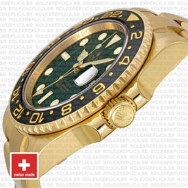 Rolex GMT-Master II Green Face Gold Swiss Replica Watch