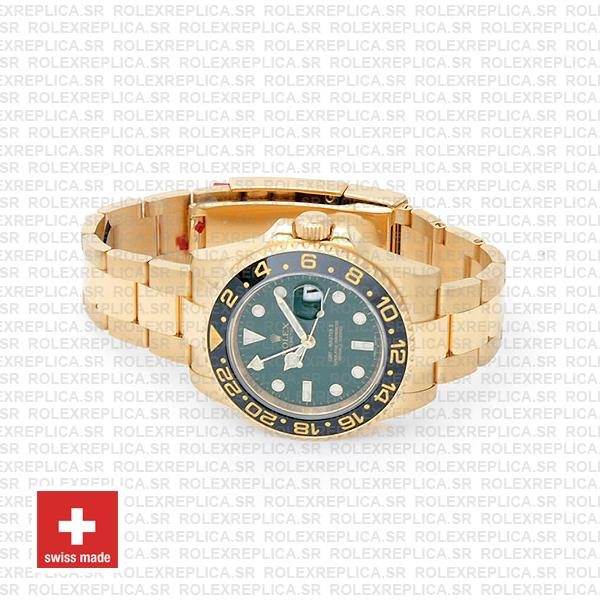 Rolex GMT-Master II Green Face Gold Replica Watch