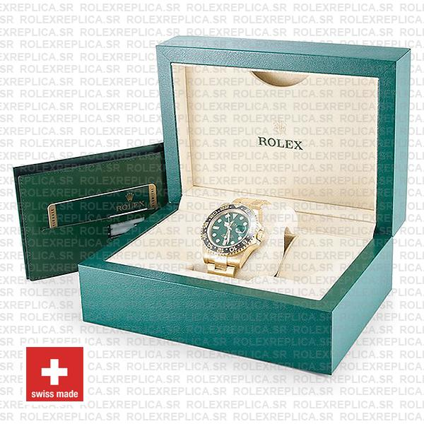 Rolex GMT-Master II Green Face Gold 40mm