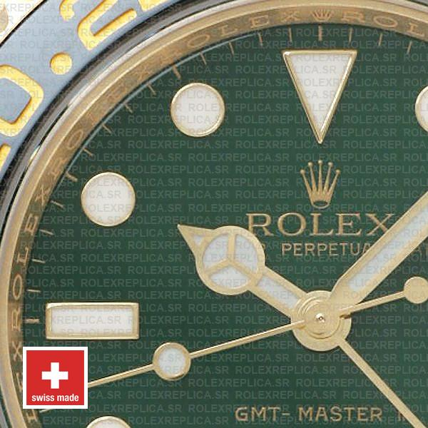 Rolex GMT-Master II Green Dial 40mm 18k Yellow Gold