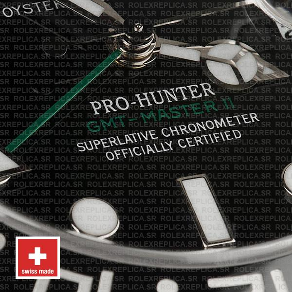 Rolex GMT-Master II Pro Hunter DLC Black Dial 40mm with 904L Steel Oyster Bracelet