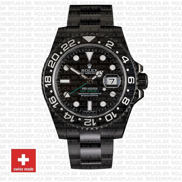 Rolex GMT-Master II Pro Hunter DLC Black Ceramic   Black Dial