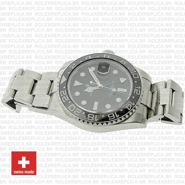 Rolex GMT-Master II Black Dial 40mm Stainless Steel Watch