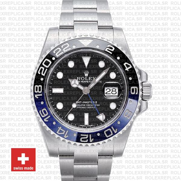 Rolex Gmt Master Ii Ss Blue Black Ceramic 40mm 116710