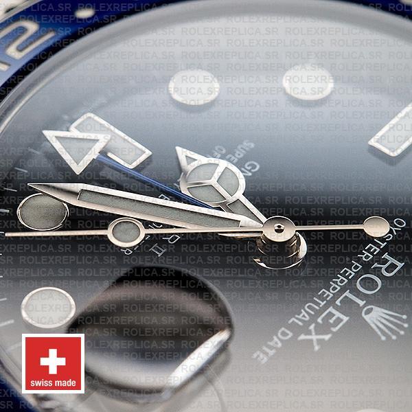 Rolex GMT-Master II 904L Steel Black Dial Blue Black Ceramic Bezel 40mm Oyster Bracelet