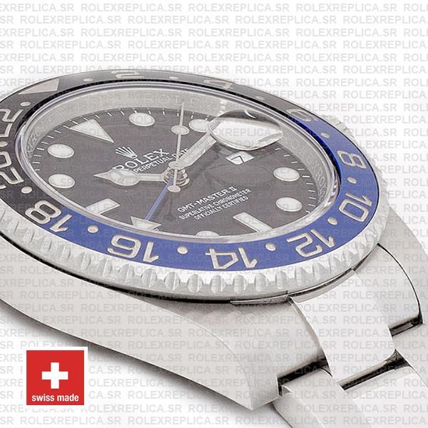 Rolex Gmt Master Ii Ss Blue Black Ceramic 40mm 116710