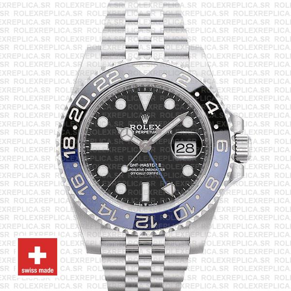 Rolex Gmt Master Ii Steel Jubilee Batman Blue Black Bezel 126710blnr 40mm
