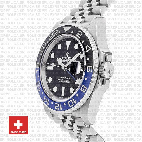 Rolex GMT-Master II Batman Black Dial 40mm Blue Black Ceramic Bezel 904L