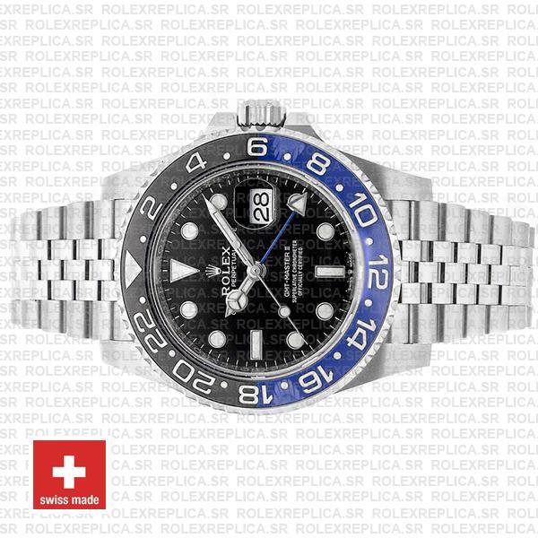 Rolex GMT-Master II Batman Black Dial 40mm Blue Black Ceramic Bezel 904L Steel