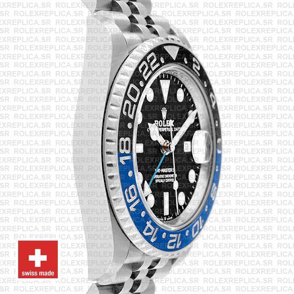 Rolex GMT-Master II Batman Black Dial 40mm Blue Black Ceramic Bezel 904L Steel Jubilee Bracelet Watch