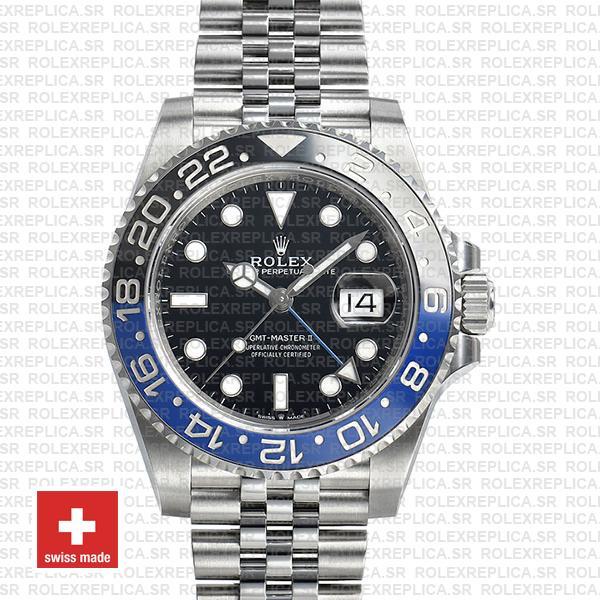 Rolex GMT-Master II 40mm Batman Blue Black Ceramic Bezel