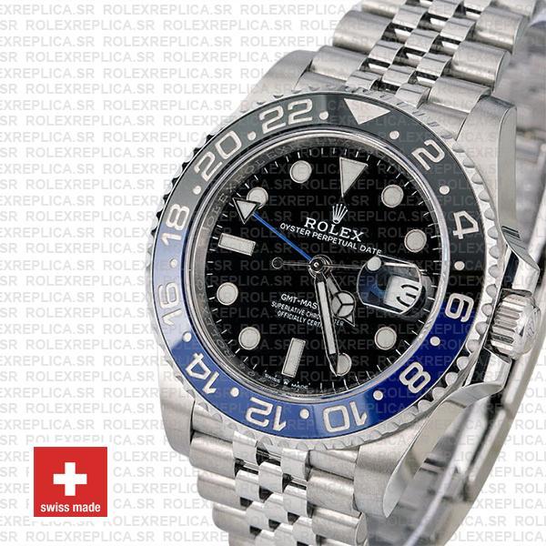 Rolex GMT-Master II 40mm Batman Blue Black Ceramic Bezel Replica