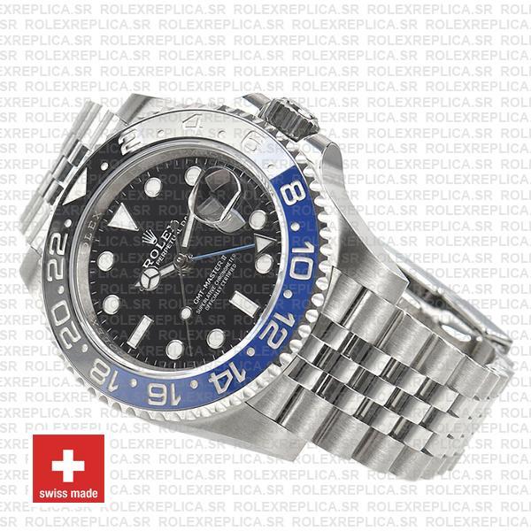 Rolex GMT-Master II 40mm Batman Blue Black Ceramic Bezel Swiss Replica