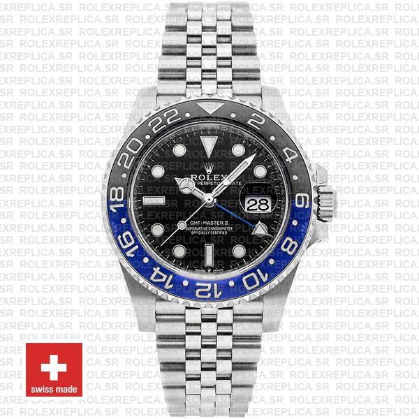 Rolex GMT-Master II Batman Black Dial 40mm Blue Black