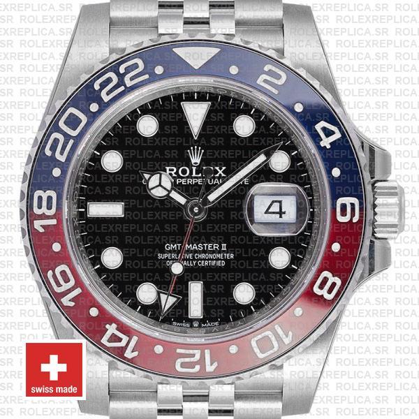 Rolex Gmt Master Ii Steel Jubilee Pepsi Bezel 40mm Replica Watch