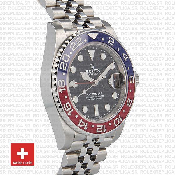 Rolex Gmt Master Ii Steel Jubilee Pepsi Bezel 40mm Watch