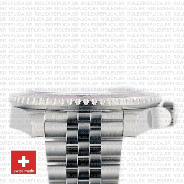 Rolex GMT-Master II Pepsi Red Blue Ceramic Bezel Steel Jubilee Bracelet Black Dial 40mm
