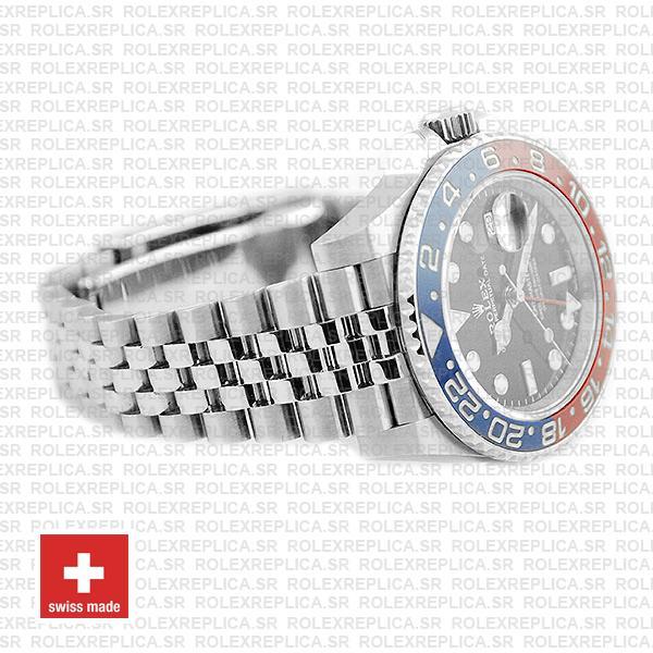 Rolex GMT-Master II Pepsi Red Blue Ceramic Bezel Steel Jubilee Bracelet
