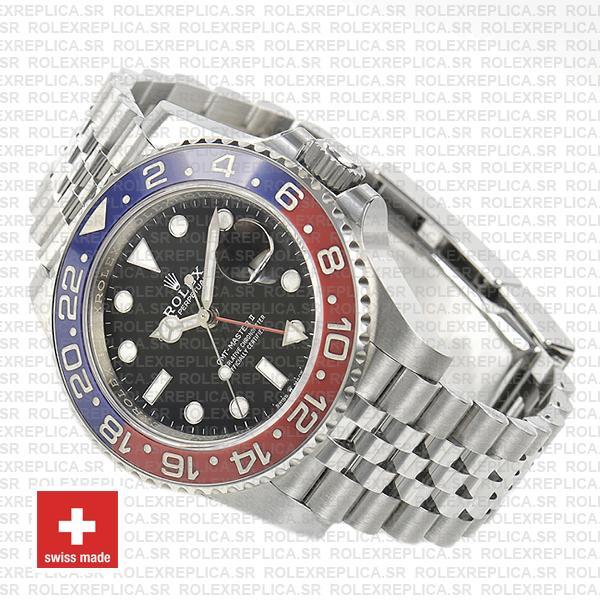 Rolex GMT-Master II Jubilee Bracelet 40mm Pepsi Bezel Swiss Replica Watch