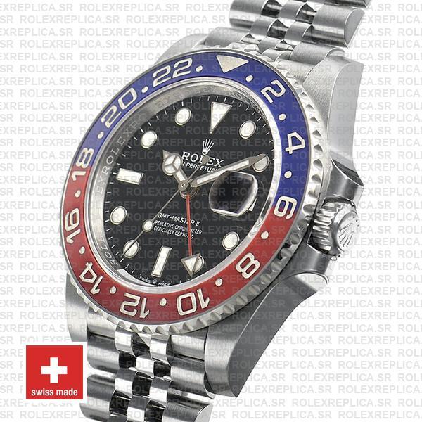 Rolex GMT-Master II Jubilee Bracelet 40mm Pepsi Bezel Replica Watch