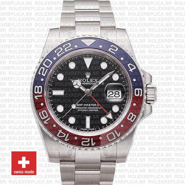Rolex GMT-Master II Pepsi 18k White Gold Replica Watch