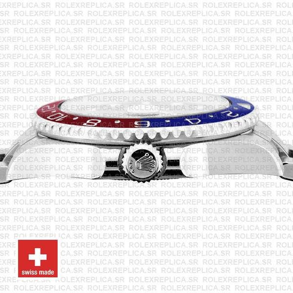 Rolex GMT-Master II Pepsi 18k White Gold Pepsi Red Blue Ceramic Bezel Watch