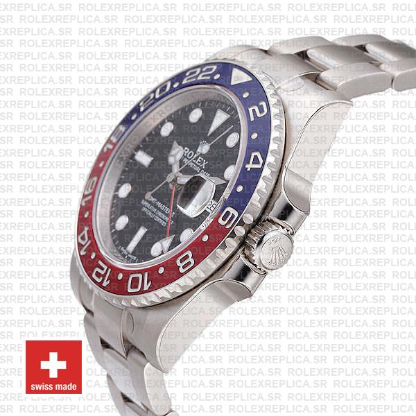 Rolex GMT-Master II Pepsi 18k White Gold Swiss Replica Watch