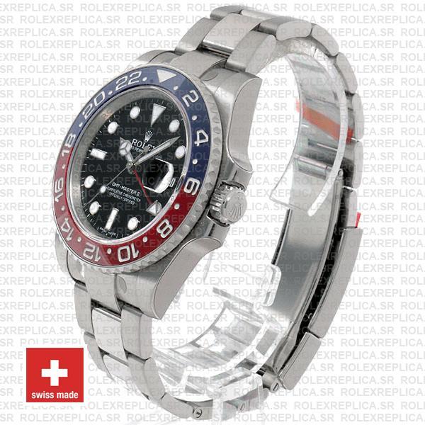 Rolex Gmt Master Ii White Gold Red Blue Ceramic 40mm Replica Watch