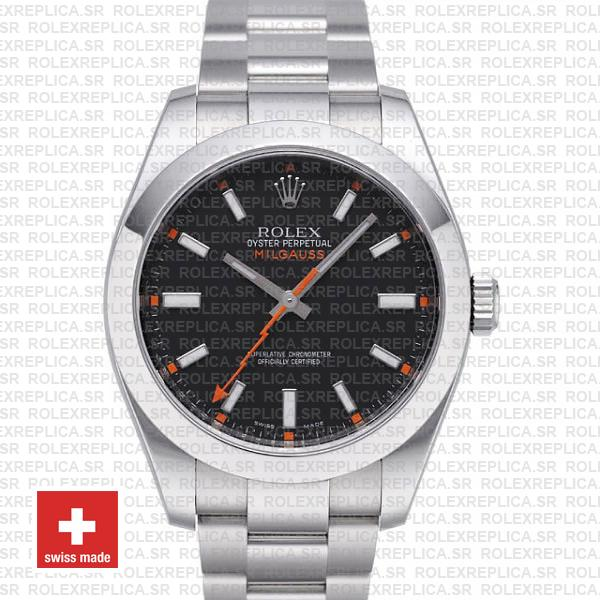 Rolex Milgauss Black Dial 44mm 116400 Swiss Replica