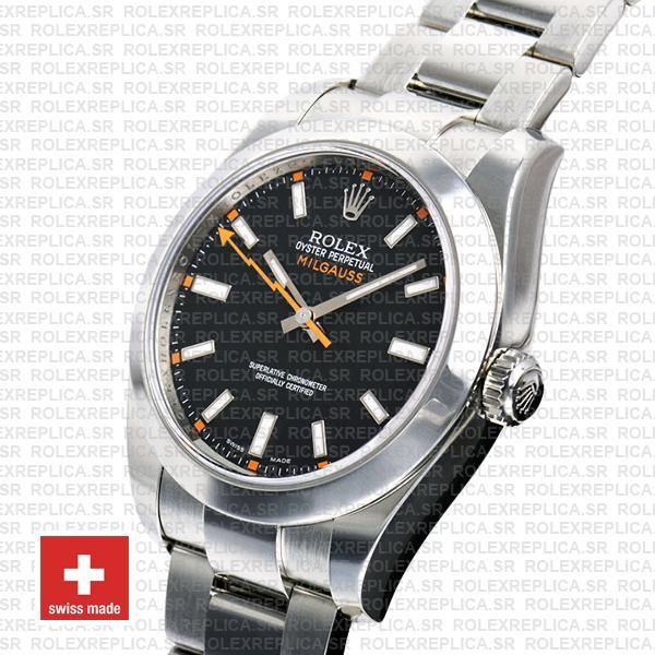 Rolex Milgauss Black Dial 44mm 116400 Swiss Replica