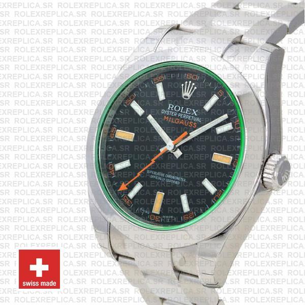 Rolex Milgauss Stainless Steel Green Dial Rolex Replica