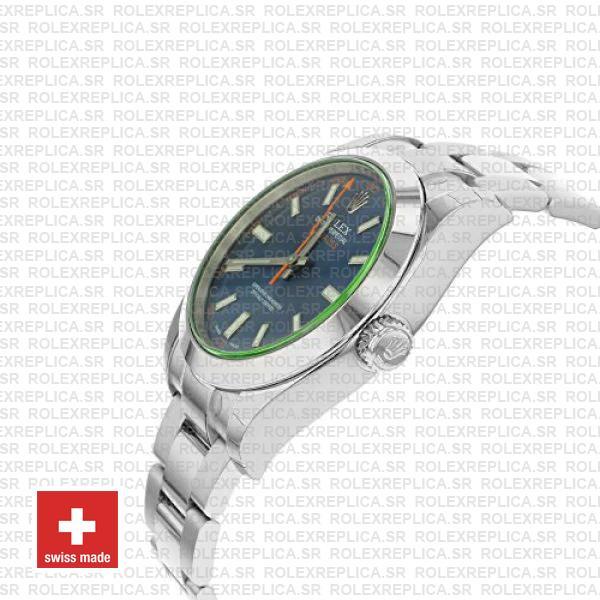 Rolex Milgauss Blue Dial 40mm 116400 Swiss Replica