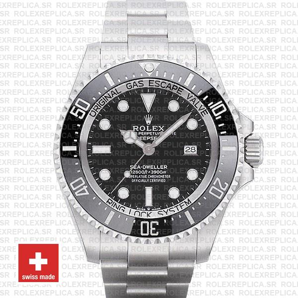 Rolex Sea-Dweller Deepsea Black Dial 904L Steel | Rolexreplica