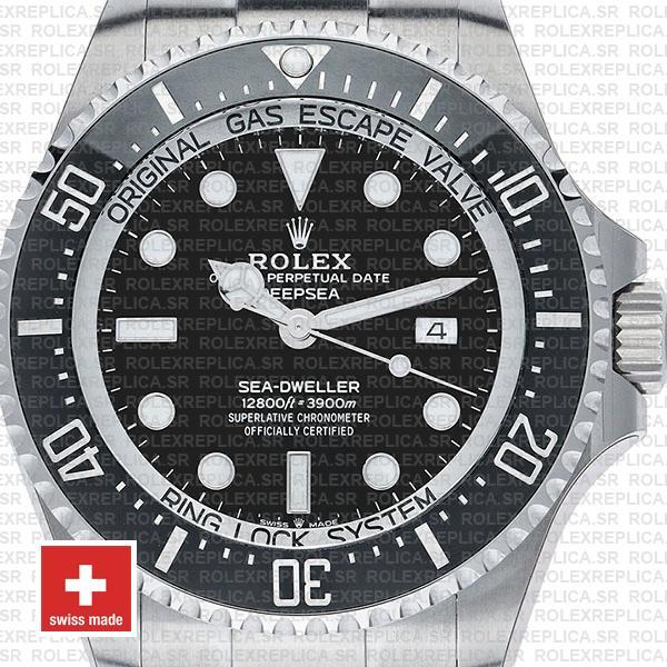 Rolex Sea-Dweller Deepsea Black Dial 904L Steel Replica
