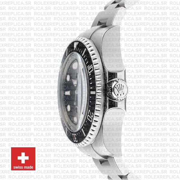 Rolex Sea-Dweller Deepsea Black Dial 904L Steel Replica Watch