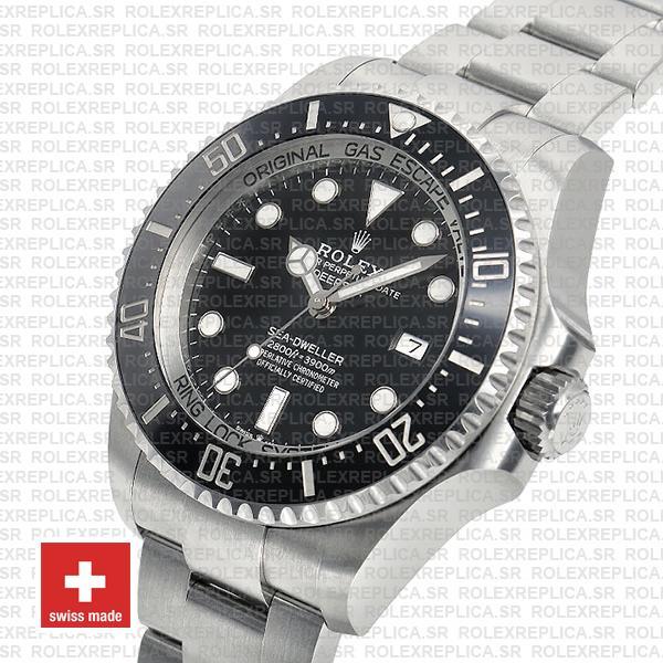 Rolex Deepsea Sea-Dweller Black Dial 44mm 904L Steel 126660 Ceramic Bezel Watch