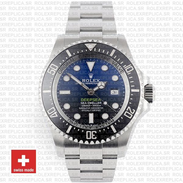 Rolex Sea-Dweller Deepsea D-Blue Blue-Black Dial 904L Steel